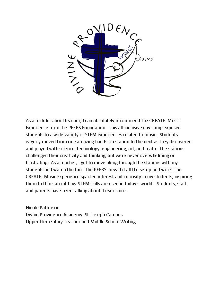 Divine Providence Academy, St. Joseph Campus Reference Letter