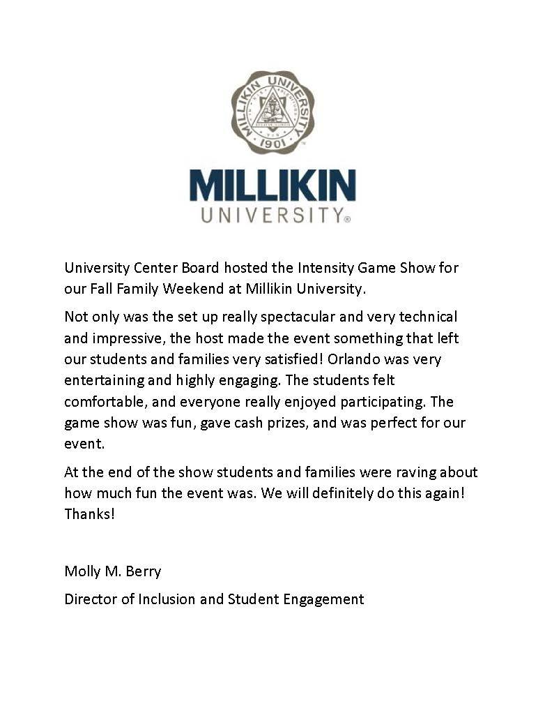 Game Show - 09.29.18 - Millikin University